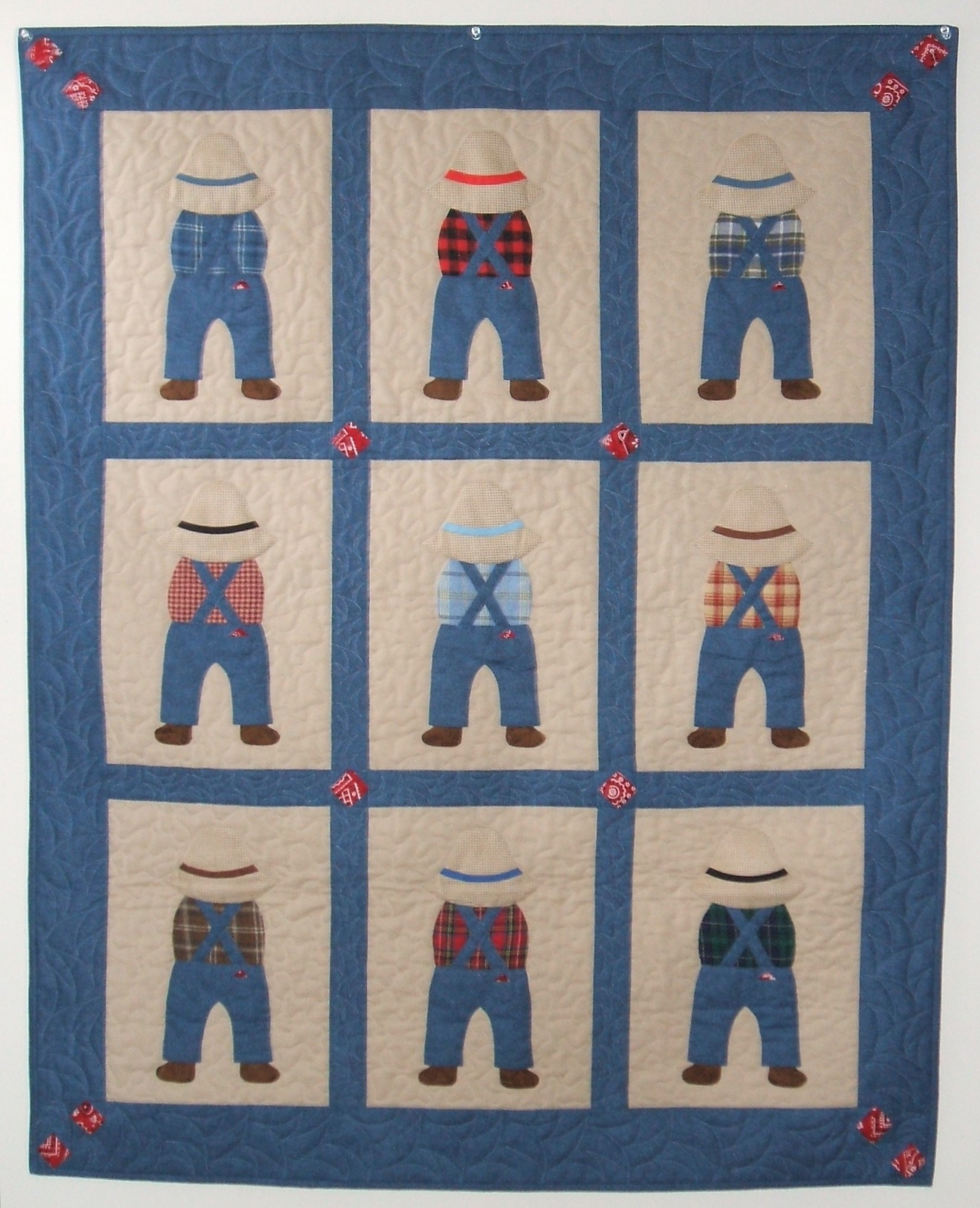 Quilt Patterns For A Man : #210--Welcome Little Man - Carol Loessel s Quilt Designs